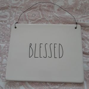 SOLD!!!Rae Dunn blessed sign